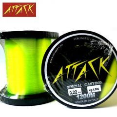 Fir monofilament Attack Special Casting 0.22mm/4.6kg/1200m