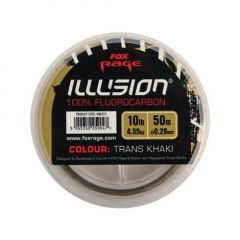 Fir fluorocarbon Fox Rage Illusion trans khaki 0.28mm/4.55kg/50m