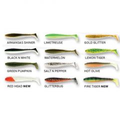 Shad Fox Rage Spikey Shad 9cm, Red Head