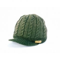 Caciula Navitas Cable Knit Green