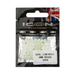 Leeda ICON Oval Luminous Beads 4mm