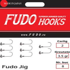 Jig Relax Spinning bila carlig Fudo nr. 2, 3.5g, plic 8buc.