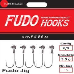 Jig Relax Spinning bila carlig Fudo nr. 6/0, 3.5gr, plic  5buc.