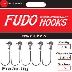 Jig Relax Spinning bila carlig Fudo nr. 7/0, 3.5gr, plic  5buc.
