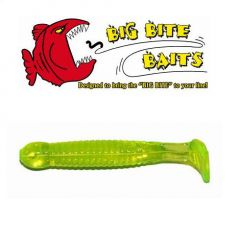 Grub Big Bite Baits Paddle Tail Chartreuse 1,75""