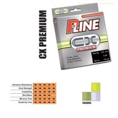Fir fluorocarbon coated P-Line CX Premium Hi-Vis Fluorescent Green 0,16mm/3,25kg/150m