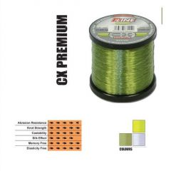 Fir fluorocarbon coated P-Line CX Premium Moss Green 0,25mm/7,28kg/2000m