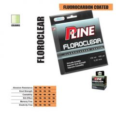 Fir fluorocarbon coated P-Line Floroclear Mist Green 0,25mm/7,47kg/1000m