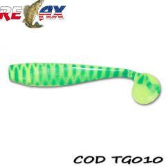 Shad Relax King Shad Tiger 10cm, culoare 010 - 10buc/plic