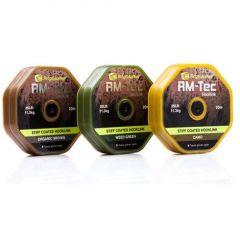 Fir textil Ridge Monkey Tec Stiff Coated Hooklink 25LB Organic Brown
