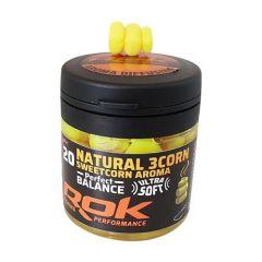 Porumb artificial Rok Fishing  Natural 3Corn Dip Ultra Soft PB - Sweet Corn