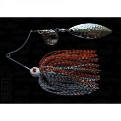 Bertilure Spinnerbait Shallow Killer Colorado-Salcie, 11g, Culoare Alb/Negru-Orange/Negru