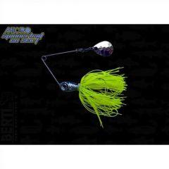 Bertilure Micro-Spinnerbait cu Skirt , 3.5gr, Culoare Chartreuse