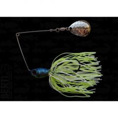 Bertilure Spinnerbait Colorado Deep Cup, 11gr,Skirt Siliconic White Chartreuse Glitter