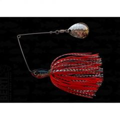 Bertilure Spinnerbait Colorado Deep Cup, 11gr,Skirt Siliconic Alb/Negru-Rosu