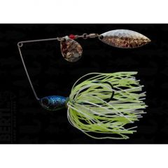 Bertilure Spinnerbait Colorado nr.2 Salcie nr.2, 11gr,Skirt Siliconic White Chartreuse Glitter