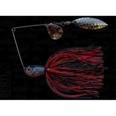 Bertilure Spinnerbait Colorado nr.2 Salcie nr.2, 14gr,Skirt Siliconic Rosu-Negru