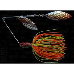 Bertilure Spinnerbait Salcie 2 Salcie 3 cu Skirt , 14g, Culoare Orange/Chartreuse