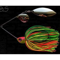 Bertilure Spinnerbait Gigant Big&Strong, 17g,Skirt Siliconic Fire Tiger
