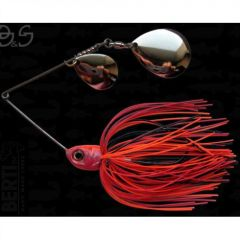 Bertilure Spinnerbait Gigant Big&Strong Colorado-Colorado, 17g,Skirt Siliconic Orange-Negru-Rosu