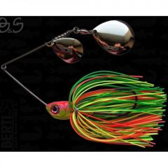 Bertilure Spinnerbait Gigant Big&Strong Colorado-Colorado, 17g,Skirt Siliconic Fire Tiger
