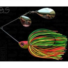 Bertilure Spinnerbait Gigant Big&Strong Colorado-Indiana, 17g,Skirt Siliconic Fire Tiger