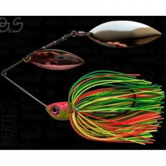 Bertilure Spinnerbait Gigant Big&Strong Salcie-Salcie, 17g,Skirt Siliconic Fire Tiger
