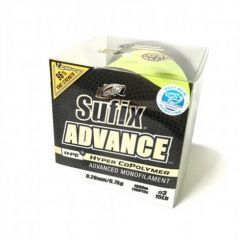 Fir monofilament Sufix Advance 0.18mm/3.4Kg/1000m HI-VIS YELLOW