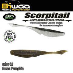 Shad Biwaa Scorpitail 10cm, culoare Green Pumpkin