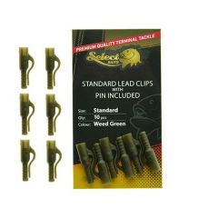 Select Baits Standard Lead Clips Weed Green