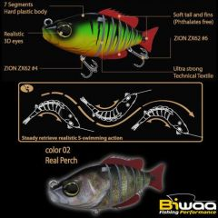 Swimbait Biwaa Seven Section S4 20gr, culoare Real Perch