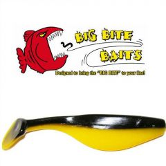 "Shad Big Bite Baits Super shad Black Yellow 4"""