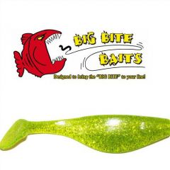 Shad Big Bite Baits Super shad Chartreuse Shine 3""