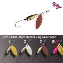 Lingura rotativa Crazy Fish Slim Flicker Deep Runner 2.6g, culoare 2 MS