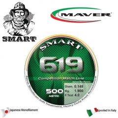 Fir monofilament Maver Smart 619 Competition 0,104mm/1kg/150m