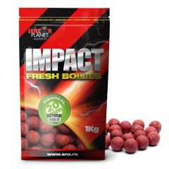Boilies Senzor Impact Fresh Boilies, Usturoi, 20mm, 1kg