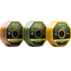 Fir textil Ridge Monkey Tec Soft Coated Hooklink 25LB Organic Brown