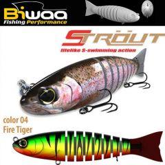 Swimbait Biwaa Strout 16cm/52g, culoare Fire Tiger