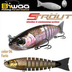 Swimbait Biwaa Strout 16cm/52g, culoare Fario