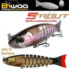 Swimbait Biwaa Strout 16cm/52g, culoare Red Horse