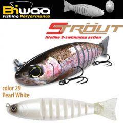 Swimbait Biwaa Strout 16cm/52g, culoare Pearl White