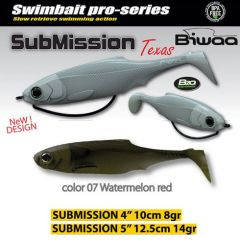 Shad Biwaa Submission 10cm, culoare Watermelon Red