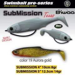 Shad Biwaa Submission 13cm, culoare Aurora Gold