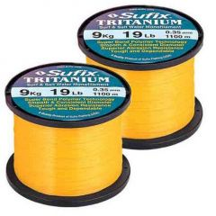 Fir monofilament Sufix Tritanium 0,28mm/5,5kg/1750m Neon Gold