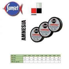 Fir monofilament Sunset Amnesia Black 0.34mm, 100m