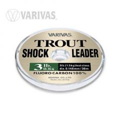 Fir Fluorocarbon Varivas Trout Shockleader 30m/0.185mm/5lb
