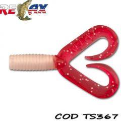 Grub Relax Twister Double Tail 4.5cm, culoare 367 - 23 buc/plic