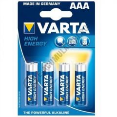Baterii alcaline Varta High Energy 1,5V AAA/R3, set 4 bucati