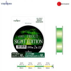 Fir monofilament Yamatoyo Famell Trout Sight Edition 0.148mm/4lb/100m